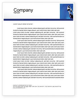 Careers/Industry: Career Development Letterhead Template #01894