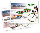 Sports: Plantilla de folleto gratis - tour de francia #01895