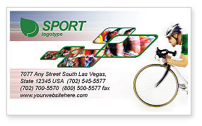 Sports: Tour de France Business Card Template #01895