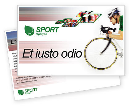 Sports: Modèle de Carte postale gratuit de tour de france #01895