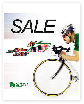 Sports: Tour de France Sale Poster Template #01895