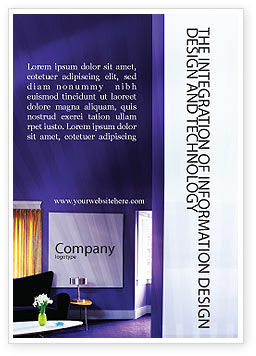 Interior In Violet Ad Template, 01896, Consulting — PoweredTemplate.com