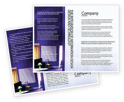 Consulting: Interior In Violet Brochure Template #01896