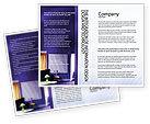 Consulting: Modello Brochure - Interni in viola #01896
