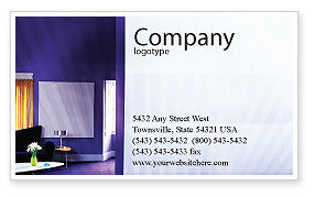 Consulting: Interior In Violet Business Card Template #01896