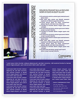 Interior In Violet Flyer Template, 01896, Consulting — PoweredTemplate.com