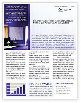 Interior In Violet Newsletter Template, 01896, Consulting — PoweredTemplate.com