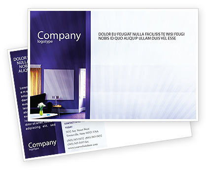 Consulting: Interior In Violet Postcard Template #01896