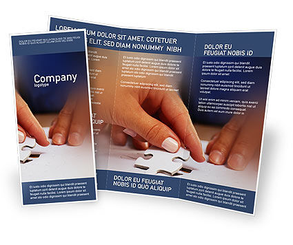 Business Concepts: Puzzle Brochure Template #01897
