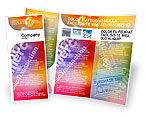 Business Concepts: Modello Brochure - E-commerce in palette colore rosa-blu-giallo #01898