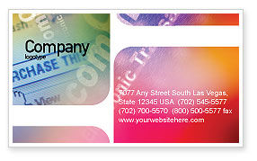 Business Concepts: E-Commerce In Pink-Blue-Yellow Palette Business Card Template #01898