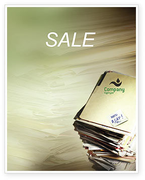 Document Management Sale Poster Template, 01903, Business — PoweredTemplate.com