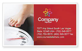 Sports: Weight Loss Business Card Template #01904