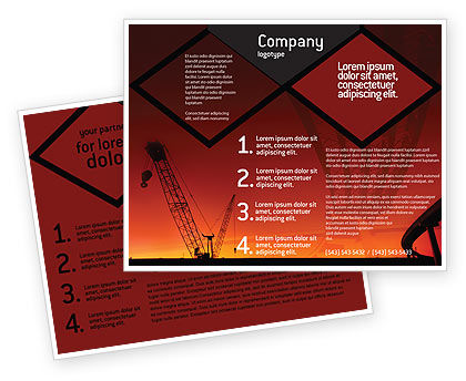Road Building Brochure Template, 01909, Construction — PoweredTemplate.com