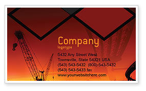 Construction: Road Building Business Card Template #01909