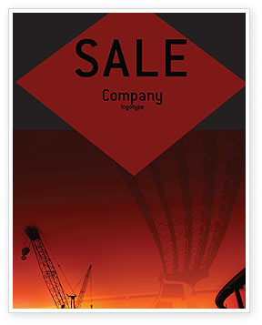 Road Building Sale Poster Template, 01909, Construction — PoweredTemplate.com