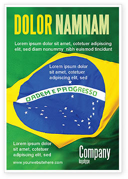 Brazilian Flag Ad Template, 01915, Abstract/Textures — PoweredTemplate.com