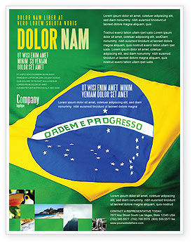 Brazilian Flag Flyer Template, 01915, Abstract/Textures — PoweredTemplate.com