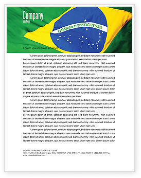 Abstract/Textures: Braziliaanse Vlag Briefpapier Template #01915