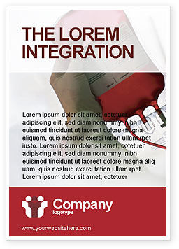 Blood Transfusion Ad Template, 01917, Medical — PoweredTemplate.com