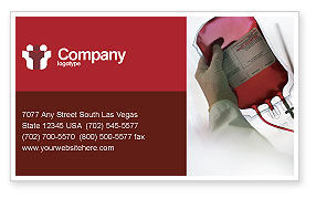 Medical: Blood Transfusion Business Card Template #01917