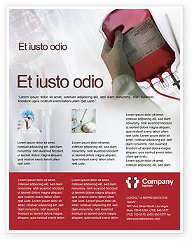 Medical: Blood Transfusion Flyer Template #01917