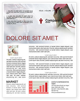 Blood Transfusion Newsletter Template, 01917, Medical — PoweredTemplate.com