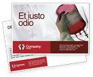 Medical: Blood Transfusion Postcard Template #01917