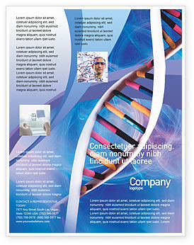 Technology, Science & Computers: Double Spiral Flyer Template #01923