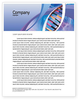 Technology, Science & Computers: Double Spiral Letterhead Template #01923