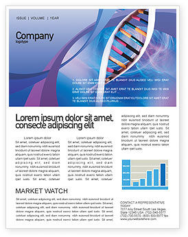 Double Spiral Newsletter Template, 01923, Technology, Science & Computers — PoweredTemplate.com