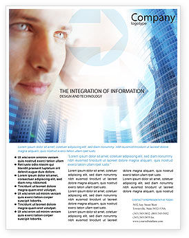 Telecommunication: Modern Telecommunication Flyer Template #01926