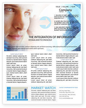 Modern Telecommunication Newsletter Template, 01926, Telecommunication — PoweredTemplate.com