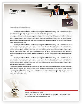 Profit Letterhead Template, 01928, Careers/Industry — PoweredTemplate.com