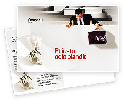 Careers/Industry: Profit Postcard Template #01928