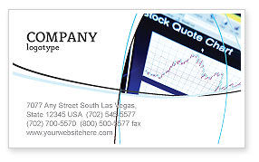 Financial/Accounting: Stock-Market Business Card Template #01931