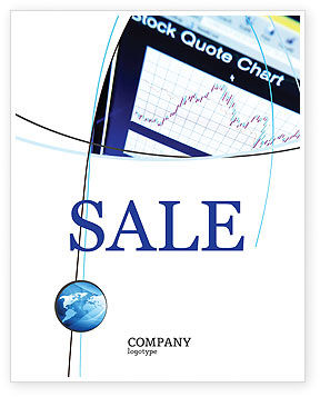 Stock-Market Sale Poster Template, 01931, Financial/Accounting — PoweredTemplate.com