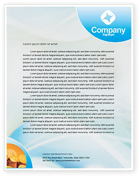 Piggy Bank And Coins Letterhead Template, 01932, Financial/Accounting — PoweredTemplate.com