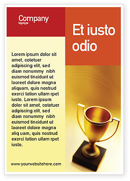 Sports: 광고 템플릿 - 승자 컵 #01933