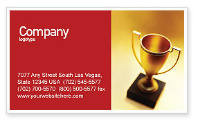 Sports: Winner Cup Business Card Template #01933