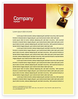 Sports: Winner Cup Letterhead Template #01933