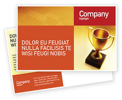 Winner Cup Postcard Template, 01933, Sports — PoweredTemplate.com