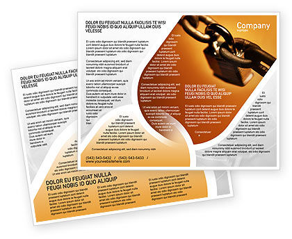 Lock This Chain Brochure Template, 01934, Consulting — PoweredTemplate.com
