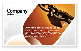 Lock This Chain Business Card Template, 01934, Consulting — PoweredTemplate.com