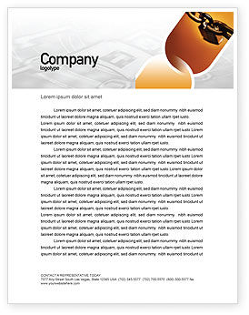 Consulting: Lock This Chain Letterhead Template #01934