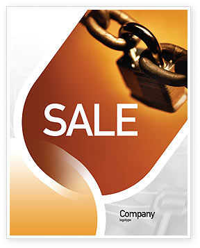 Lock This Chain Sale Poster Template