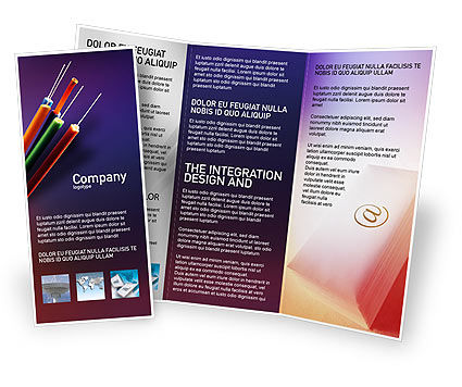 Telecommunication: Internet Koppelingen Gratis Brochure Template #01935