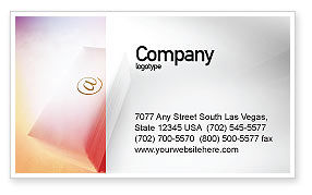 Internet Links Business Card Template, 01935, Telecommunication — PoweredTemplate.com