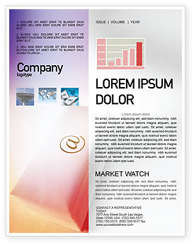 Telecommunication: Internet Links Newsletter Template #01935