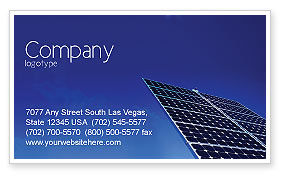 Technology, Science & Computers: Solar Panels Rising Up Power Business Card Template #01936